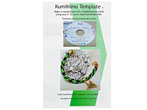 Edo Yatsu Kumihimo Supply Kit W/ New Template incl S-Lon & Beads ...