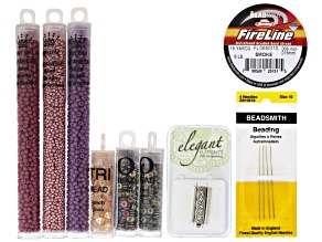 Beadweaving Knock Three Times Bracelet Supply Kit - Berrylicious: Beads, Clasp, Fireline&Needles