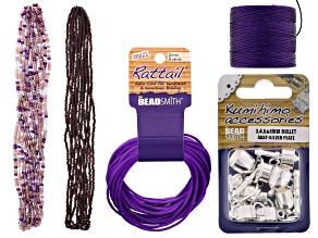 Kumihimo Color Suite incl Seed Beads, Rattail, S-Lon, And Findings