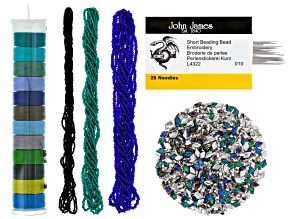 Seed Bead, S-Lon & Gemduo Supply Kit in Cool Tones