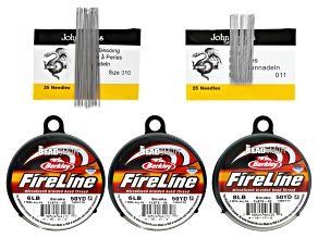 Fireline & Short Needle Supply Kit incl Size 10 & 11 Beading Needles And Fireline in 0.15mm & 0.17mm