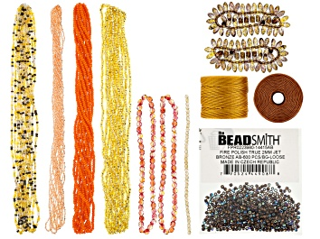 Picture of Beading Supply Kit with Assorted Beads & S-Lon Tex 210 Thread