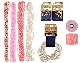 Kumihimo Color Suite Supply Kit incl Seed Beads, S-Lon, Rattail & Findings