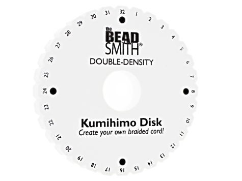 Kumihimo Supply And Project Kit incl Template, Disk, Beads, S-Lon ...