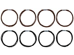 Pleather 1mm Kit 24 Meters Total: includes 12 Meters 1mm Black And 12 Meters 1mm Brown