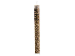 11/0 Glass Seed Beads in Metallic Light Bronze Color Appx 23 Gram Tube