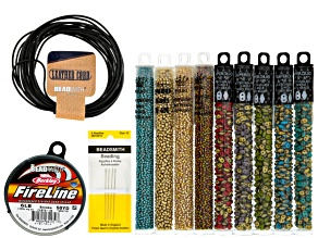 Beaded Beads Supply And Project Kit in Fool's Gold Colorway