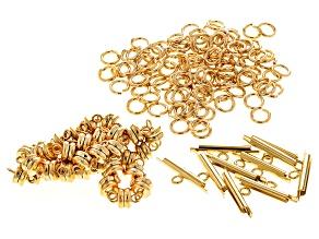 Findings Kit in Gold Tone includes Magnetic Clasps, Miyuki Slide Tube & Jump Rings