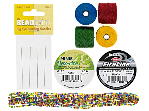 S-Lon And Beading Supply Kit inlc S-Lon, Fireline, Seed Beads, Flex-Rite, & Beading Needles