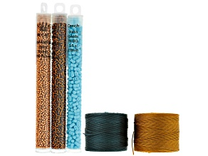 Sonoma Sunset Seed Bead And S-Lon Supply Kit