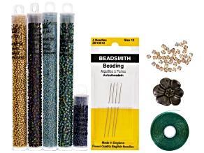 Petersburg Chain Rope Bracelet Supply Kit incl beads,string,findings & needles