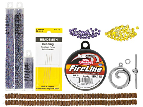 Streetscape Bracelet Supply Kit incl beads, string, findings & needles