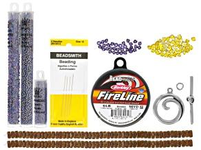 Streetscape Bracelet Supply Kit incl beads, string, findings & needles