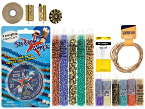 Bracelet Making Kit in Morning Glory - Makes Wrap, Clasp, And Stretch Style
