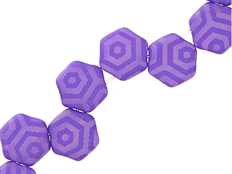 Honeycomb 6mm Glass Beads in Laser Silk Violet Web  Appx 240 Beads