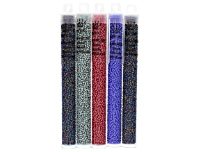 11/0 Glass Miyuki Seed Bead Kit Of 5 Tubes in Assorted Colors