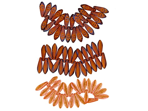 Bead Embroidery Supply Kit in Pinks&Oranges incl Seed Beads, Delicas, Daggers, 3mm & 4mm Bicones