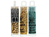 Lexis Star Project And Supply Kit in Colors Of Turquoise & Gold Tone