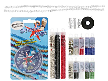 Picture of Endless loom bracelet project supply kit in USA love