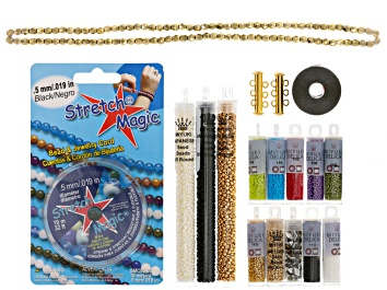 Picture of Endless loom bracelet project supply kit in Amish quilt