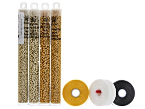 Loom bead basics bracelet supply kit in magic matte metallics