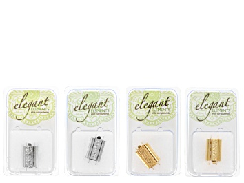 Picture of Bead Slide Clasp Kit Of Assorted Styles In Gold Tone