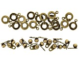 Findings Kit with Clasps & Jump Rings in Silver Tone & Antique Brass Tone