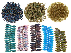 Miyuki Seed Beads & Czech Glass Dagger Beads Set in Assorted Styles and Colors