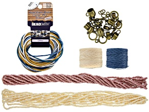 Czech Glass Seed Beads with Cord and Bullet Assortment