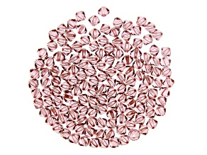 Blush Rose Swarovski® Crystal Bicones appx 4mm Beads appx 144 pieces total