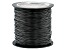 Black P'leather Cord 1mm Spool 150 yards in length