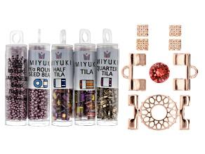 Tila Cymbal Cuff Bracelet Kit in Warm Colorway w/ Tutorial Included