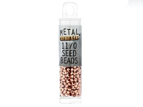 11/0 Metal Seed Beads in Copper Tone appx 16 Grams