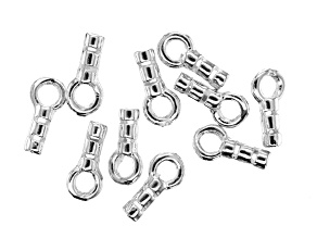 Crimping End Caps in Silver Tone Set of 10