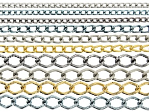 Aluminum Chain Kit in Assorted Sizes & Tones 10 Pieces Total