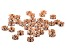 Crystal and Copper Tone Rondelle Appx 4.5mm Parcel Appx 36 Pieces Total
