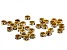 Crystal AB and Antiqued Brass Tone Rondelle Appx 4.5mm Parcel Appx 36 Pieces Total