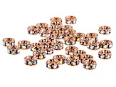Crystal AB and Copper Tone Rondelle Appx 4.5mm Parcel Appx 36 Pieces Total
