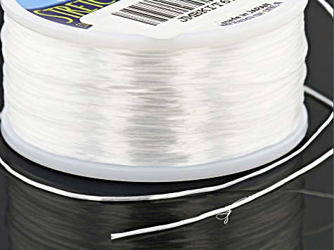 Opelon Stretch Jewelry Fiber Cord 0.7mm Appx 100 Meters - White