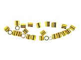 Crimp Tube Beads and Crimp Covers Kit in Silver Tone and Gold Tone Appx 96  Pieces Total