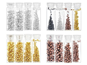 Crimp Bead Kit in 0.8mm, 1.3mm, 1.5mm, and 2mm in 4 Tones Appx 2,400 Pieces Total