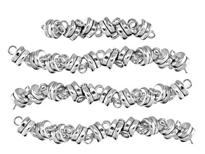 Magnetic Clasp Kit in Silver Tone Appx 36 Pieces Total