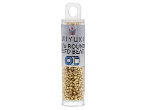 24KT Gold Plated 15/0 Miyuki Round Seed Beads appx 8.2GM
