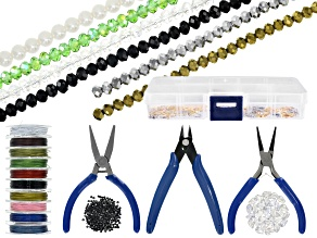 Jewelry Making Supply & Tool Kit in Storage Box with Pliers, Beads, Wire & Assorted Findings