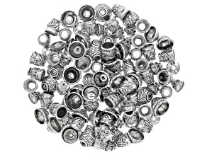 Cup Spacer Beads in 3 assorted style in Antique Silver Tone 120 pcs Ttl