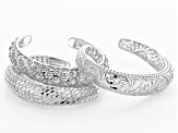 Bracelet Finding Set of 3 in Assorted Styles in Silver Tone