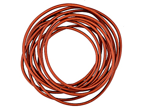 Metallic Leather 2mm Cord Kit in Copper, Gunmetal, Tamba Kansa And Bronze 2 Meters Each