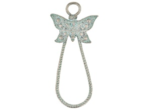 Vintaj Butterfly Drop Focal in Antiqued Silver Tone Designed by Jess Lincoln