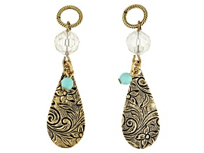 Vintaj Tear Drop Earring Component Set of 2 Designed by Candie Cooper