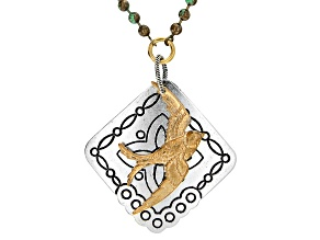 Vintaj Celtic Sparrow Focal in Antiqued Silver & Gold Tones Designed by Candie Cooper